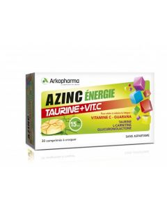 Arkopharma Azinc Énergie Taurine + Vitamine C 30 comprimés à croquer