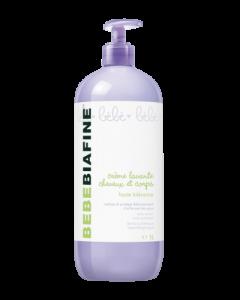 Bebebiafine Crème Lavante Cheveux et Corps 1L