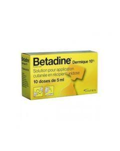 Betadine Dermique 10% Solution pour Application Cutanée en 10 récipients unidose de 5ml
