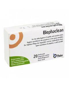 Blephaclean Hygiène et Soins des Paupières 20 Compresses