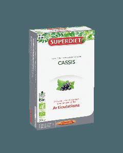 Superdiet Cassis Bio 20 Ampoules de 15ml