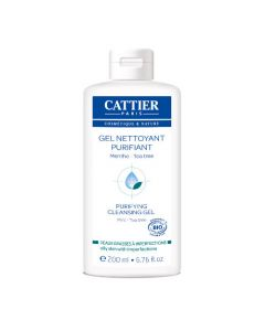 Cattier Gel Nettoyant Purifiant Menthe & Tea Tree 200ml