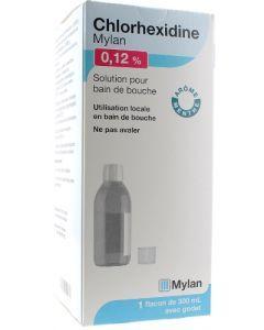 Chlorhexidine Mylan 0,12% Solution pour Bain de Bouche 300ml