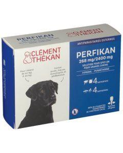 Clément Thékan Perfikan Antiparasitaires Externes pour Chiens 4 pipettes