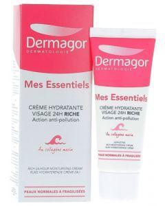 Dermagor Mes Essentiels Crème Hydratante Visage 24h Riche 40ml