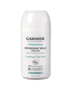 Gamarde Hygiène Douceur Déodorant Bille Douceur Fraicheur Thé Vert 50ml
