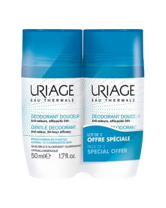 Uriage Déodorant Douceur, Lot de 2x50ml