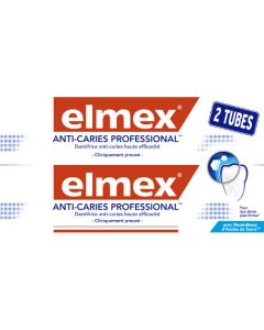 Elmex Dentifrice Professionnal Anti-Caries Lot de 2x75ml