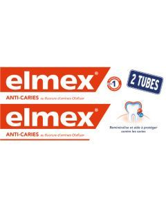 Elmex Dentifrice Protection Caries Lot de 2x75ml
