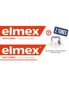 Elmex Dentifrice Anti-Caries Lot de 2x125ml