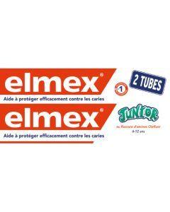 Elmex Dentifrice Junior 6-12 Ans Lot de 2x75ml