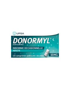 UPSA Donormyl 15 mg comprimé pelliculé sécable