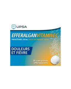 UPSA Efferalgan Vitamine C 500mg/200mg 16 Comprimés Effervescents