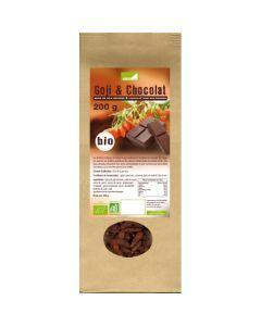 Exopharm Baie De Goji Séchées & Chocolat Noir Biologique Sachet de 200g
