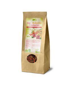 Exopharm Mélange De 3 Superfruits Goji, Mulberries Bio, Cranberries Bio Sachet de 250g