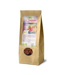 Exopharm Mélange De 4 Superfruits Goji, Cranberries, Physalis, Myrtilles Sachet de 250g