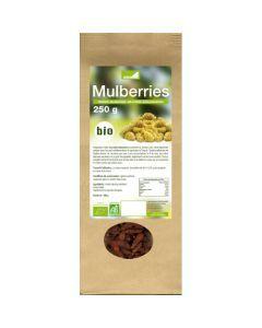 Exopharm Mulberries Mûres Blanches Séchées Biologiques Sachet de 250g