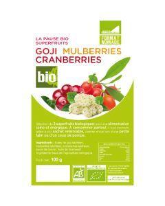 Exopharm Goji/Mulberries/Cranberries Sachet de 100g