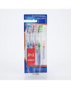 Elgydium Brosse à dents Inter-Activ Médium x 3