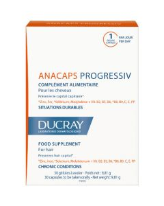 Ducray Anacaps Progressiv Chute de Cheveux 30 Capsules