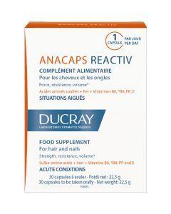 Ducray Anacaps Réactiv Chute de Cheveux 30 Capsules
