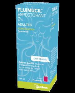 Fluimucil Expectorant 2% Adultes Solution Buvable sans Sucre 200ml