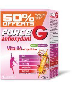 Nutrisanté Force G Antioxydant 50% Offert 30 Ampoules