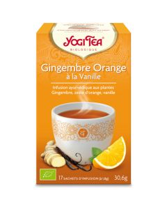 Yogi Tea Gingembre Orange à la Vanille 17 Infusions