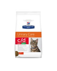 Hill's Prescription Diet C/D Urinary Stress Reduced Calorie pour Chat au Poulet 8kg