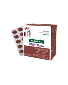 Klorane KeratinCaps Complément alimentaire fortifiant boîte de 30 capsules