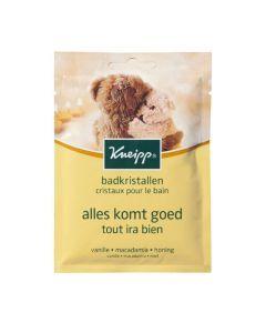 Kneipp Cristaux pour le Bain - Vanille / Macadamia / Miel (Tout ira bien) - 60 g