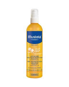 Mustela Lait Solaire Très Haute Protection SPF50+ Flacon Pompe 300ml
