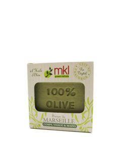 """MKL Savon De Marseille """"100% Olive"""" 100Grs"""
