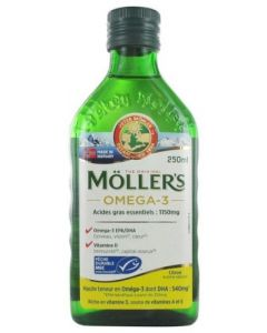 Möller's Omega 3 Acides Gras Essentiels Arôme Citron 250ml