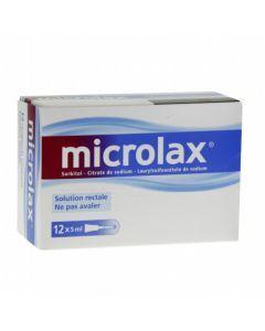 Microlax sorbitol citrate et laurilsulfoacetate de sodium solution rectale en récipient unidose