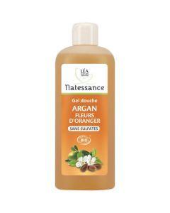 Natessance Gel Douche Argan Fleurs D'Oranger Sans Sulfates 500ml