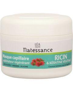 Natessance Masque Capillaire Sublimateur Régénérant Ricin Et Kératine Végétale 200ml