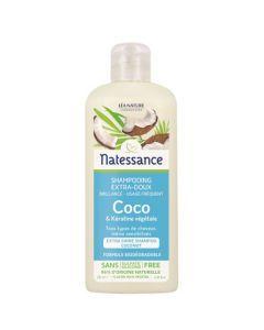 Natessance Shampooing Usage Fréquent Coco & Kératine Végétale 250ml