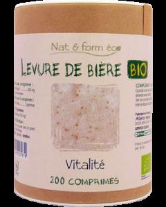 Nat&Form Levure de Biere Bio  Eco Responsable 200 Comprimés