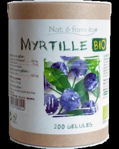 Nat&Form Myrtille Bio Eco Responsable 200 Gélules