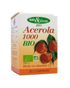Nat&Form Acerola 1000 Bio 30 Comprimés
