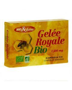 Nat&Form Gelee Royale Bio 1500mg 20 Ampoules de 10ml