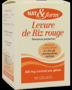 Nat&form Levure de Riz Rouge + Coenzyme Q10 60 Gélules