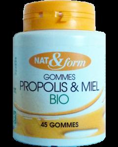 Nat&form Propolis Gommes Bio 45