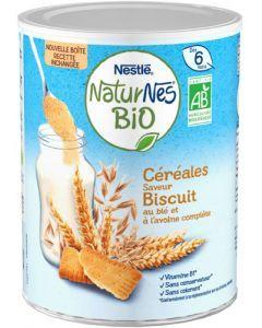 Naturnes Céréales Bio Céréales Biscuitées Boîte 240g