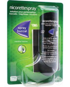 Nicorettespray 1 mg/dose solution pour pulvérisation buccale menthe fraîche