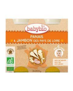 Babybio Petits Pots Panais, Jambon de Corrèze Biologique dès 6 Mois 2x200g