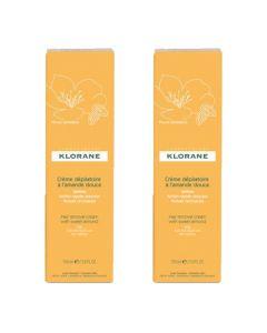 Klorane Crème Dépilatoire à l'Amande Douce 2x150ml