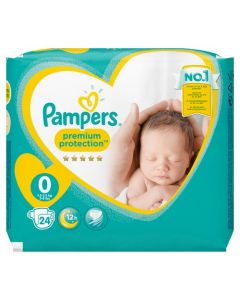 Pampers New Baby Taille 0 (Mini) 15-25 kg 24 Couches