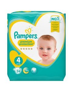 Pampers Premium Protection Taille 4 9-14 kg 24 Couches